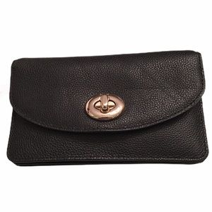 Coach Clutch Black With Removable Crossbody Chain